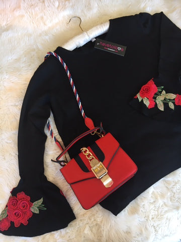 gucci inpired knit and bag