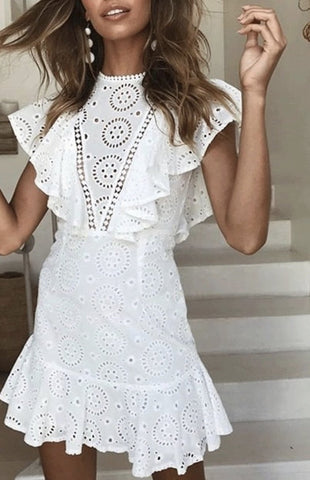 Zimmerman style white broderie anglaise dress Havetolove fashion online
