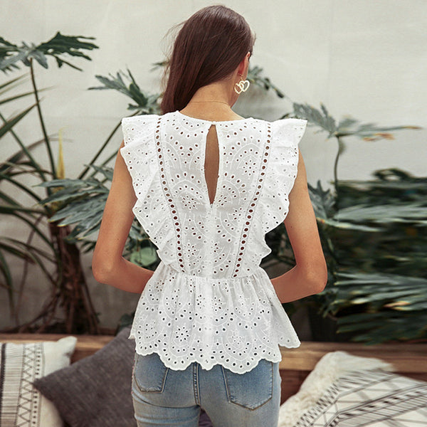Women's Broderie Anglaise Top -Havetolove.com