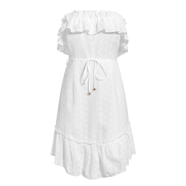 Women's Strapless Broderie Anglaise Dress - Havetolove.com