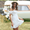 Women's Broderie Anglaise White Dress-Havetolove.com