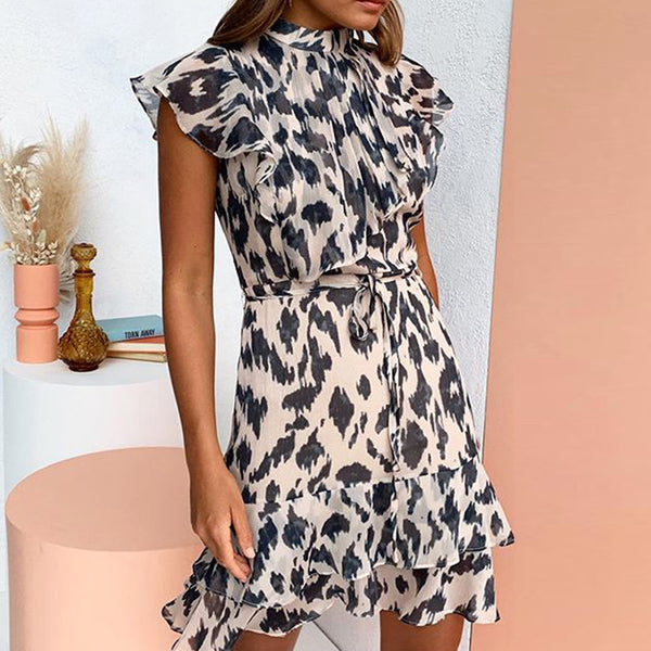 Women's Leopard Print Dress-Havetolove.com
