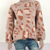 Women's Leopard Long Sleeve Sweater-Havetolove.com