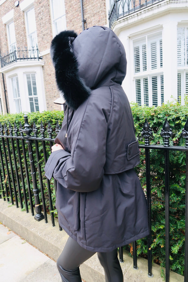 Women's Fur Hooded Winter Down Jacket-Havetolove.com