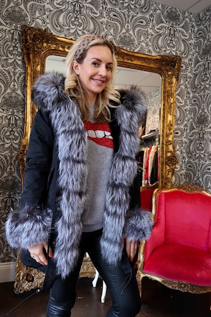 -Women's Long Parka - Real Fur Hood, Front And Cuffs - Various Colours & Options-Havetolove.com