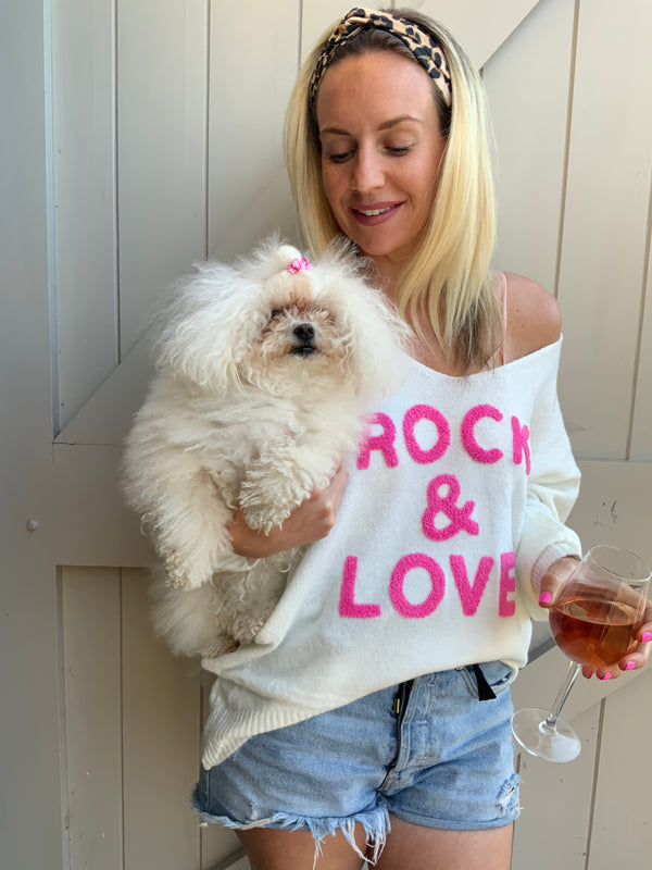 Women's Rock & Love V Neck Jumper-Havetolove.com