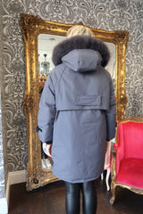 Women's Real Fox Fur Collar Duck Down Long Coat - Various Colours-Havetolove.com