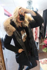 Long Parka Coat with big real Natural Raccoon Fur Hood- Various colour options-Havetolove.com