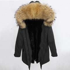 Natural fur hood parka coat- Havetolove fashion online
