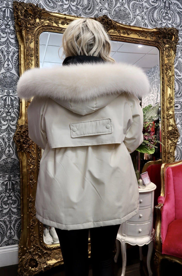 Women's Faux Fur Down Jacket - Various Colours-Havetolove.com