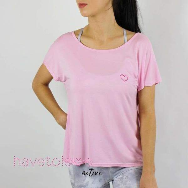 -The Curie - Women's Backless Gym Tee - Baby Pink-Havetolove.com