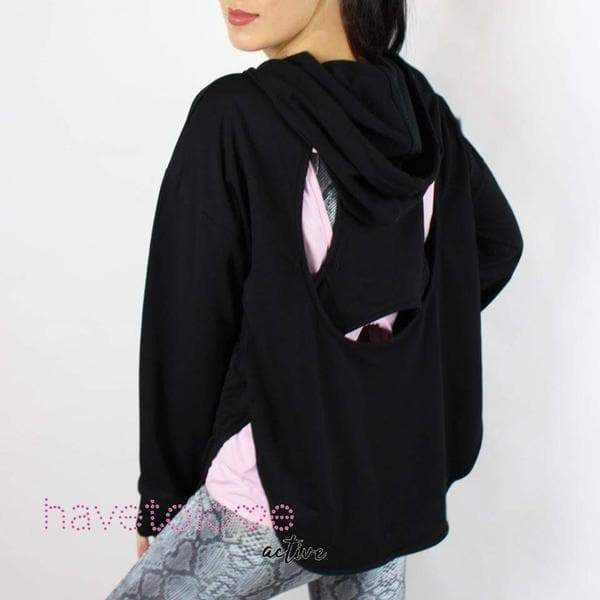 S-Black-The Parks - Women's Gym Hoodie Top Black-Havetolove.com