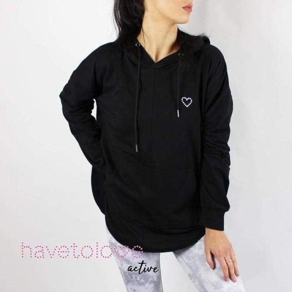 -The Parks - Women's Gym Hoodie Top Black-Havetolove.com