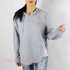 The Parks - Women's Gym Hoodie Top Grey - havetolove-com