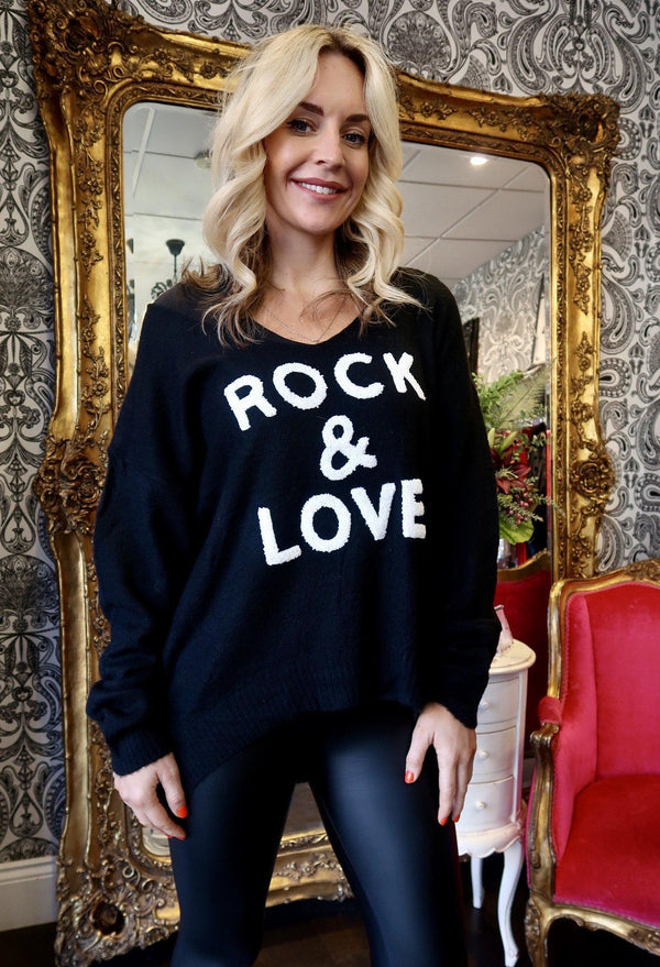 -Women's Rock & Love V Neck Jumper - Various Colours-Havetolove.com