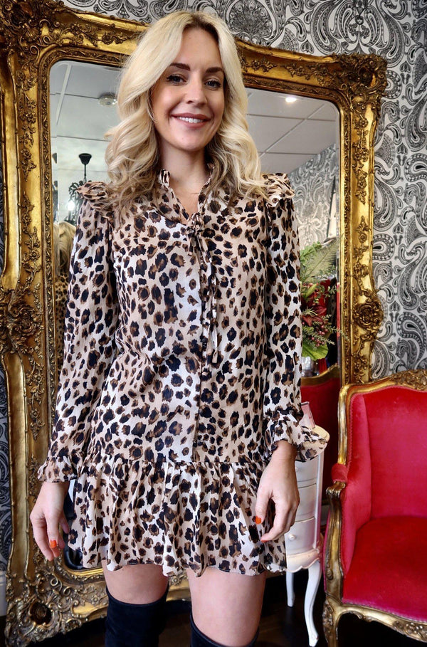 Leopard-Small-Women's Smock Dress - Leopard Print-Havetolove.com
