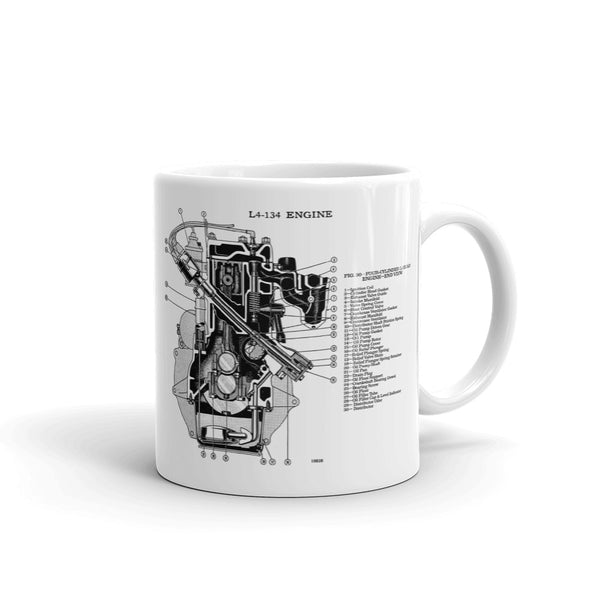 Jeep L4-134 Engine Coffee Mug !!Free Shipping!!