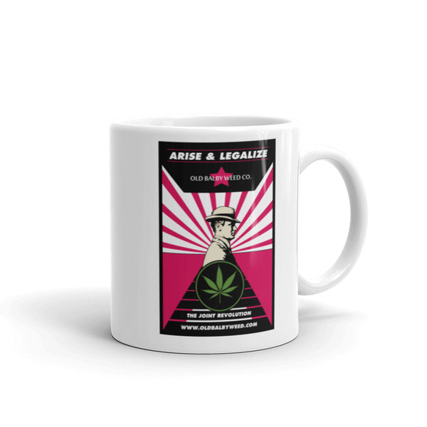 Arise and Legalize Hot Pink Coffee Mug