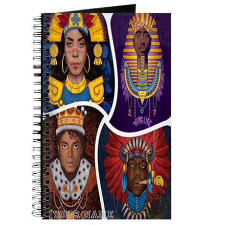 Hip Hop Artist Egyptian Style Custom Notebook