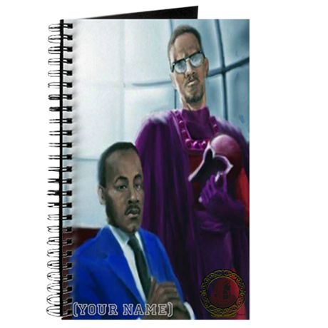 Martin Luther King and Malcolm X custom Notebook