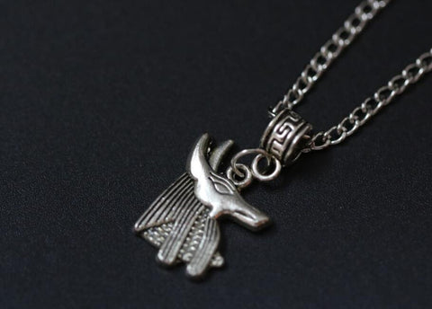 Free Anubis God Amulets Necklace Ancient Silver Dog Charms Pendant