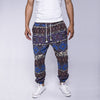 Image of 2016 New Fashion Men's Casual Pants Ethnic Floral Print  Linen Drawstring Full Length Harem Pants