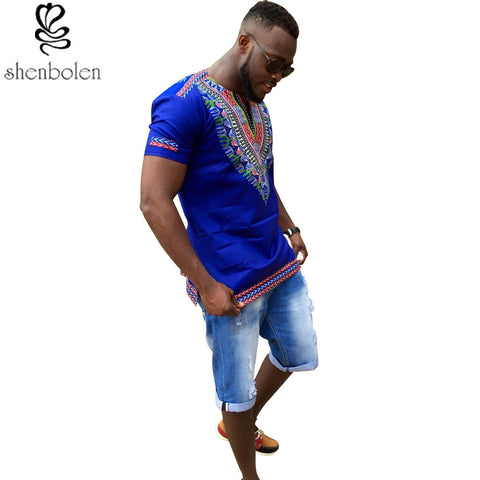 autumn mens African clothing dashiki clothes knitting stitching Batik printing