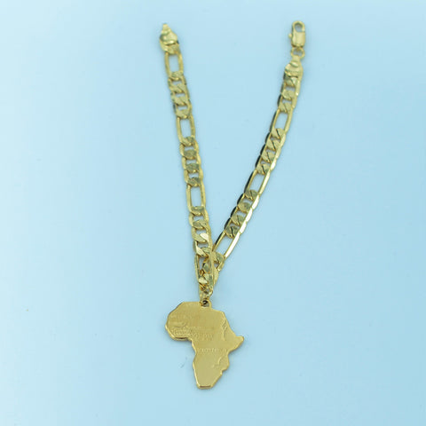 FREE 21cm Africa Map Bracelet Chain for Women Men 18K Gold Plated NEW