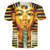 Image of 3D Big Face King Tut Egypt Egyptian Pharaoh Pyramid Print T Shirts