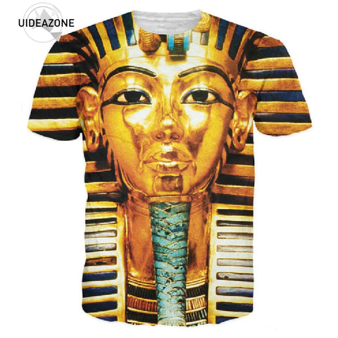 3D Big Face King Tut Egypt Egyptian Pharaoh Pyramid Print T Shirts