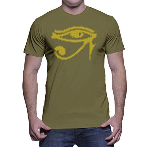 HAASE UNLIMITED Mens Golden Eye Of Horus - Gold Design T-shirt