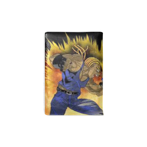 BLACK GOKU VS BLACK VAGETA DBZ LEATHER CUSTOM NOTEBOOK