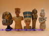 Image of 7.5cm 5pcs/lot original Wooden/Alloy Ancient Egypt Patron saint/Pharaoh/Tutankhamun action figure collectable figure set