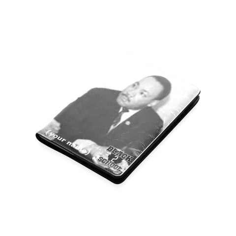Martin Luther King and Elijah Muhammad Custom Leather Notebook