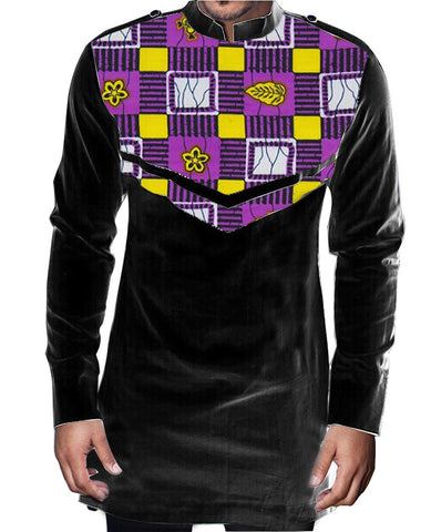 Africa clothes long sleeve tops printed mens african clothes dashiki shirt  tailored made africa clothing