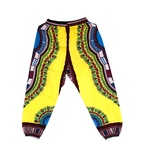 African Dashiki Print Trouser Design women Pants Traditional African Clothing Print Dashiki Fabirc Pants For Women And Men