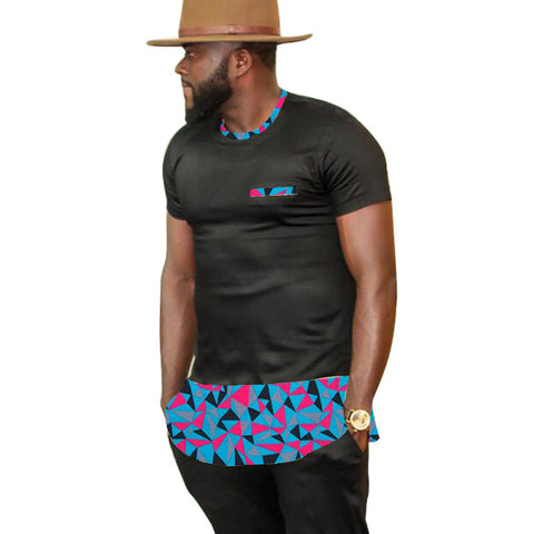 African clothes customized print t shirts men africa clothing summer short