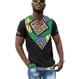 African clothes customized print t shirts men africa clothing summer short sleeve tops patchwork dashiki tops