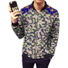 Image of African print jacket mens fashion patchwork jackets stand collar design dashiki coats of africa clothing