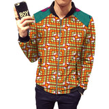 African print jacket mens fashion patchwork jackets stand collar design dashiki coats of africa clothing