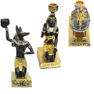 Ancient Egyptian Sphinx / Anubis / Maidservant Model Classical Home Decoration Candleholder Small Resin Toy gift Free shipping