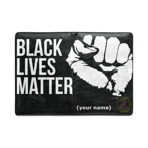 BLACK LIVES MATTER FIST CUSTOM LEATHER NOTEBOOK