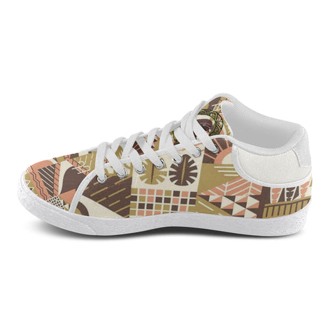 Tribal Brown and Peach Accent Mens Shoes
