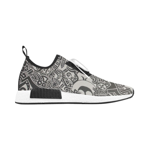 DRACO RUNNING BLACK AND WHITE TRIBAL SHOES