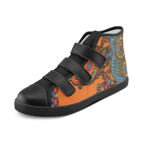 ORANGE CRUSH DASHIKI SHOES #1 FOR KIDS