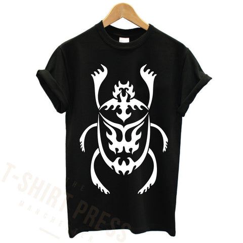 EGYPTIAN SCARAB PRINTED BLACK MENS T SHIRT GRAPHIC PRINT TEE COOL RELIGION CROSS TShirt Tee Shirt