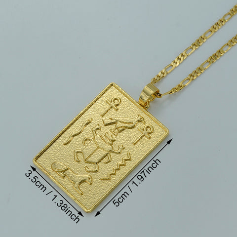 FREE Egyptian Hieroglyphics Necklaces Ankh Cross Pendant