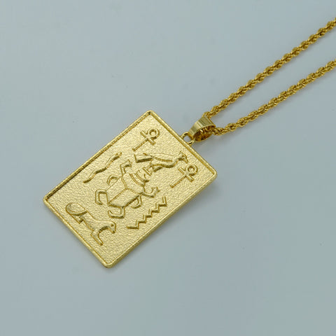 Egyptian Hieroglyphics Necklaces Ankh Cross Pendant