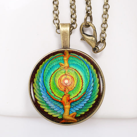 FREE Energy Symbol Egyptian Scarab Vintage Pendent Necklace, ancient Egypt Chain necklace, Egyptian jewelry,4 colors for choosing
