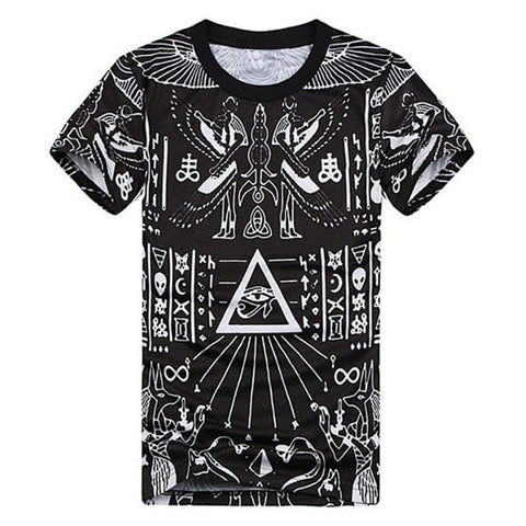 3D Printed T-shirts Homme Cool Pyramid